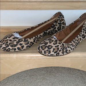 Leather Cheetah print flats